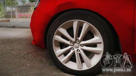Lada Vesta Sedan pour GTA San Andreas sur la vue arrière gauche