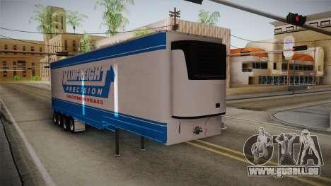 Trailer 4 Axle pour GTA San Andreas sur la vue arrière gauche