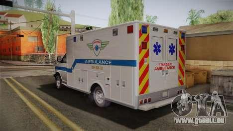 Chevrolet Express 2011 Ambulance pour GTA San Andreas laissé vue