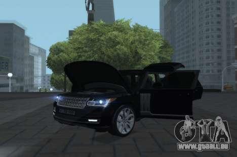 Land Rover Range Rover Vogue pour GTA San Andreas vue de droite