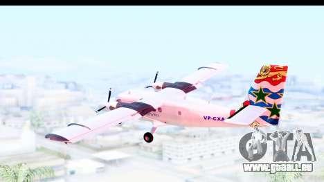DHC-6-400 Cayman Airways pour GTA San Andreas vue de droite