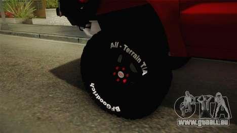 Toyota Hilux 2010 Venezolana de Off Road für GTA San Andreas Rückansicht