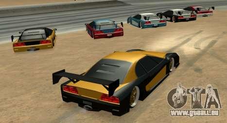 Turismo Major Ver.2 pour GTA San Andreas sur la vue arrière gauche