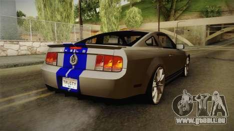Ford Mustang Shelby GT500KR Super Snake pour GTA San Andreas laissé vue