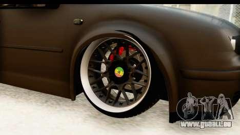 Volkswagen Bora Pickup für GTA San Andreas Rückansicht