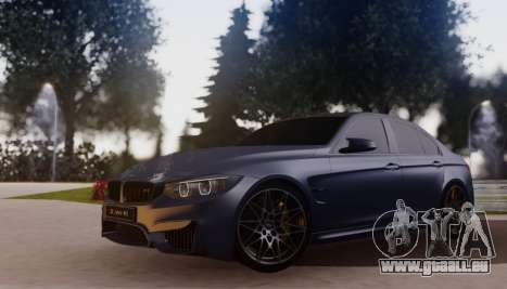BMW M3 F30 30 Jahre pour GTA San Andreas