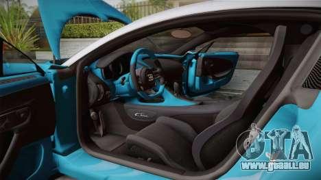 Bugatti Chiron 2017 v2.0 Italian Plate pour GTA San Andreas vue intérieure