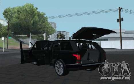 Land Rover Range Rover Vogue pour GTA San Andreas vue arrière