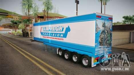 Trailer 4 Axle pour GTA San Andreas vue de droite