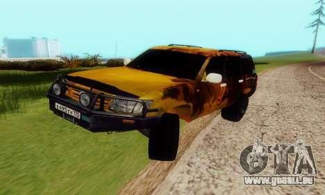 Toyota Land Cruiser 105 pour GTA San Andreas vue arrière