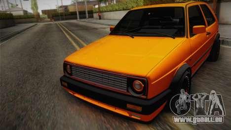 Volkswagen Golf Mk2 GTI .ILchE STYLE. pour GTA San Andreas vue intérieure