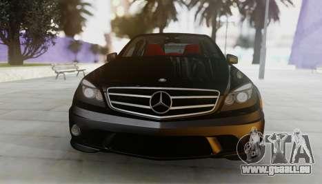 Mercedes-Benz C63 AMG w204 pour GTA San Andreas laissé vue
