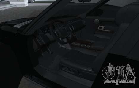 Land Rover Range Rover Vogue pour GTA San Andreas vue intérieure