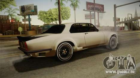Jaguar Broadspeed XJC pour GTA San Andreas laissé vue