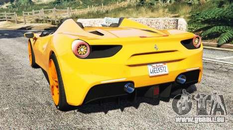 GTA 5 Ferrari 488 Speedster 2016 [replace] hinten links Seitenansicht