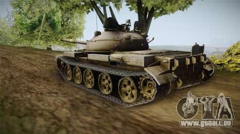 T-62 Desert Camo v1 pour GTA San Andreas sur la vue arrière gauche