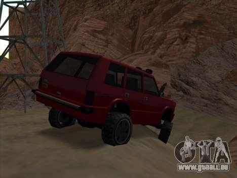 Huntley Offroad pour GTA San Andreas sur la vue arrière gauche