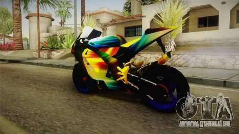 Rainbow Motorcycle für GTA San Andreas linke Ansicht