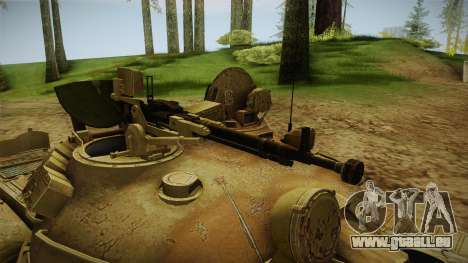 T-62 Desert Camo v3 für GTA San Andreas Rückansicht