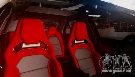 Mercedes-Benz C63 AMG w204 pour GTA San Andreas vue de côté