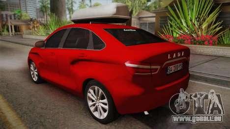 Lada Vesta Sedan pour GTA San Andreas laissé vue