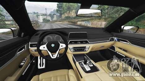 GTA 5 BMW 750i xDrive M Sport (G11) [add-on] droite vue latérale
