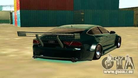 AUDI A7 SPORTS pour GTA San Andreas sur la vue arrière gauche