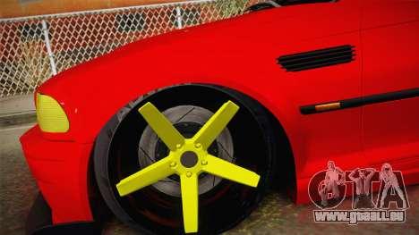 BMW M3 E46 Turkish Stance für GTA San Andreas zurück linke Ansicht