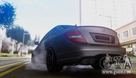 Mercedes-Benz C63 AMG w204 pour GTA San Andreas vue arrière