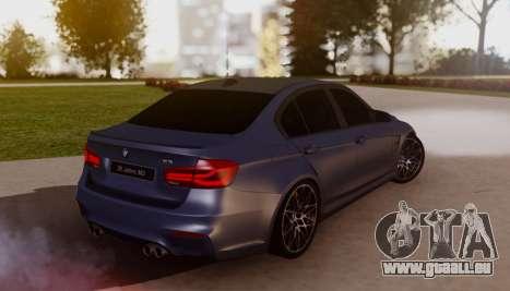 BMW M3 F30 30 Jahre pour GTA San Andreas laissé vue