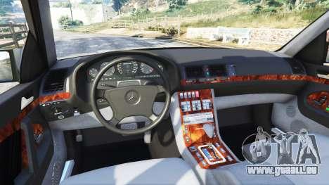 GTA 5 Mercedes-Benz W140 AMG [replace] avant droite vue de côté