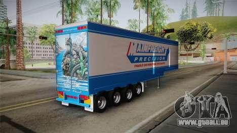 Trailer 4 Axle pour GTA San Andreas laissé vue