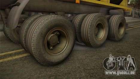 MAZ 99864 Remorque v3 pour GTA San Andreas vue arrière
