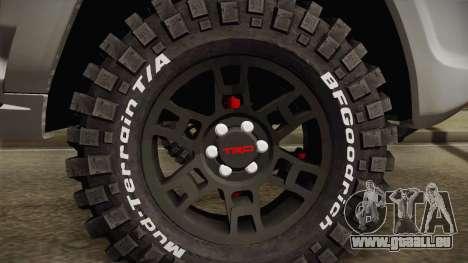 Toyota 4runner 2010 pour GTA San Andreas vue arrière