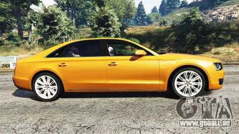 GTA 5 Audi A8 L (D4) 2013 [replace] linke Seitenansicht
