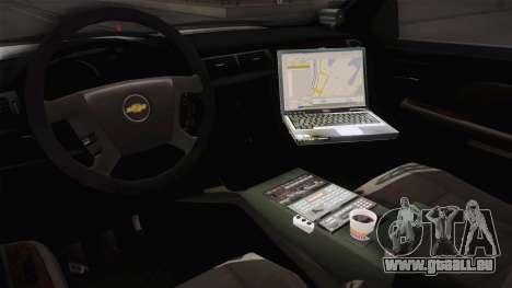 Chevrolet Silverado 2009 SA DOT pour GTA San Andreas vue intérieure