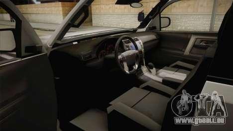 Toyota 4runner 2010 pour GTA San Andreas vue intérieure