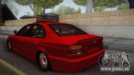 BMW 530d E39 Red Black pour GTA San Andreas laissé vue