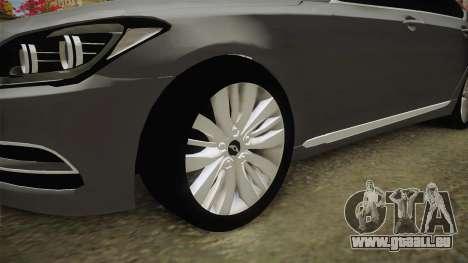 Hyundai Genesis 2016 v1.2 pour GTA San Andreas vue arrière