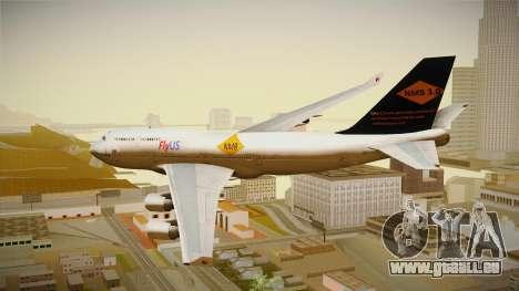 Boeing 747-400 FlyUS with NMB Logo pour GTA San Andreas laissé vue