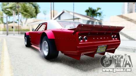 GTA 5 Declasse Tampa Drift IVF pour GTA San Andreas sur la vue arrière gauche