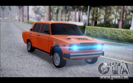 VAZ 2105 patch 2.0 pour GTA San Andreas sur la vue arrière gauche