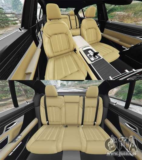 GTA 5 BMW 750i xDrive M Sport (G11) [add-on] avant droite vue de côté