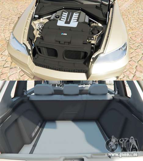 GTA 5 BMW X5 M (E70) 2013 v1.2 [add-on] droite vue latérale