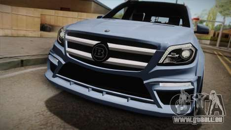 Mercedes-Benz GL63 Brabus pour GTA San Andreas sur la vue arrière gauche