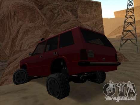 Huntley Offroad pour GTA San Andreas laissé vue