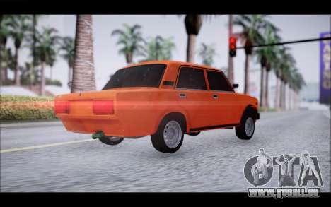 VAZ 2105 patch 2.0 pour GTA San Andreas laissé vue