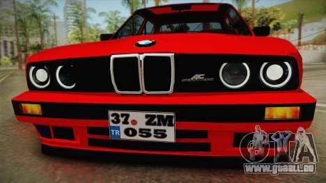 BMW M3 E30 Sedan für GTA San Andreas zurück linke Ansicht
