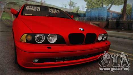 BMW 530d E39 Red Black pour GTA San Andreas vue de droite