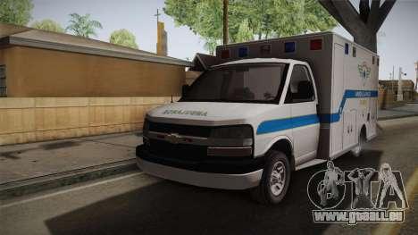 Chevrolet Express 2011 Ambulance pour GTA San Andreas